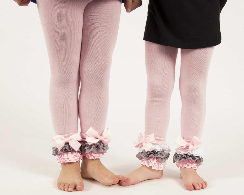 Ruffle and ribbon tights