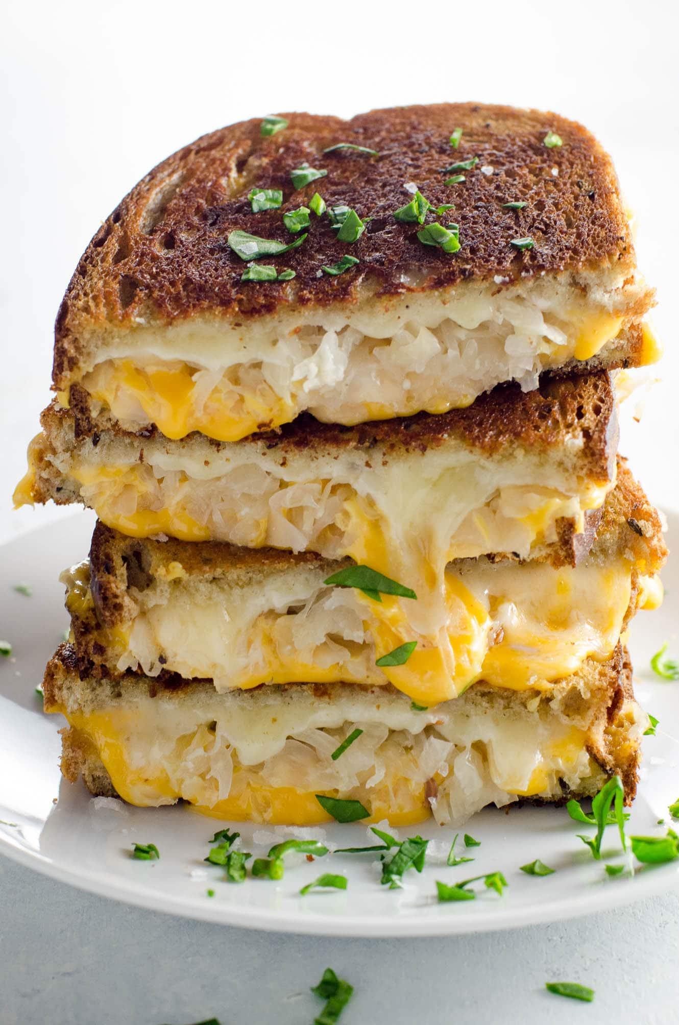 Sauerkraut grilled cheese