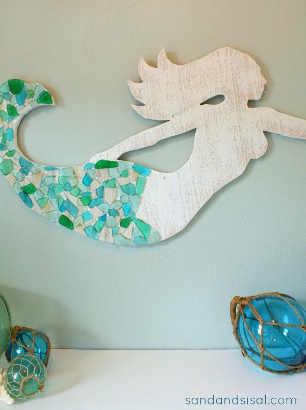 Sea glass mermaid art