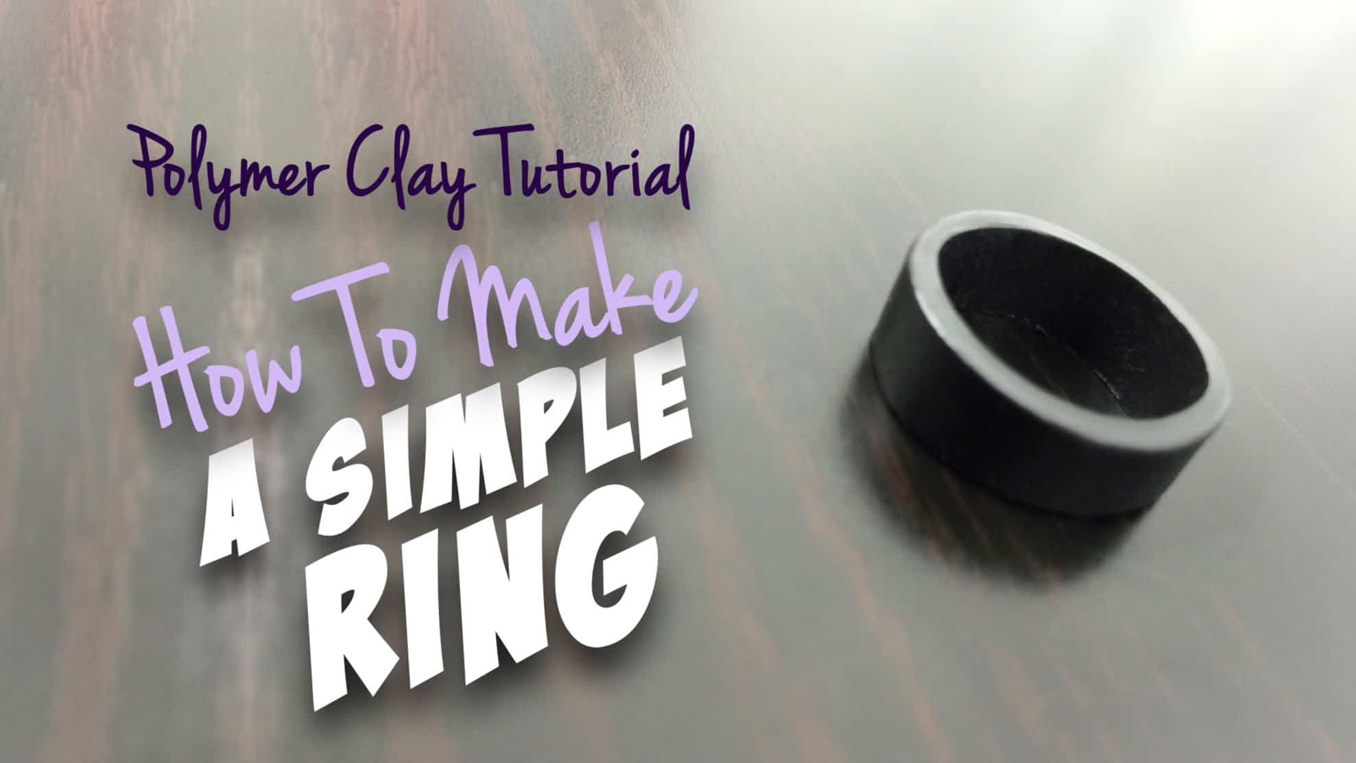 Simple polymer clay ring