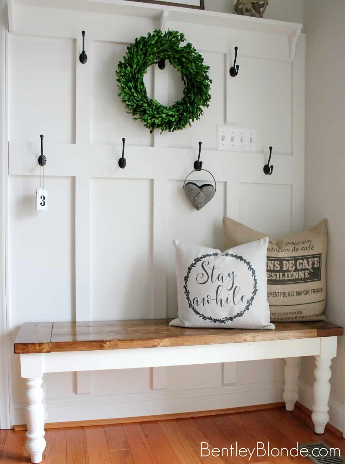 Simplistic indoor bench