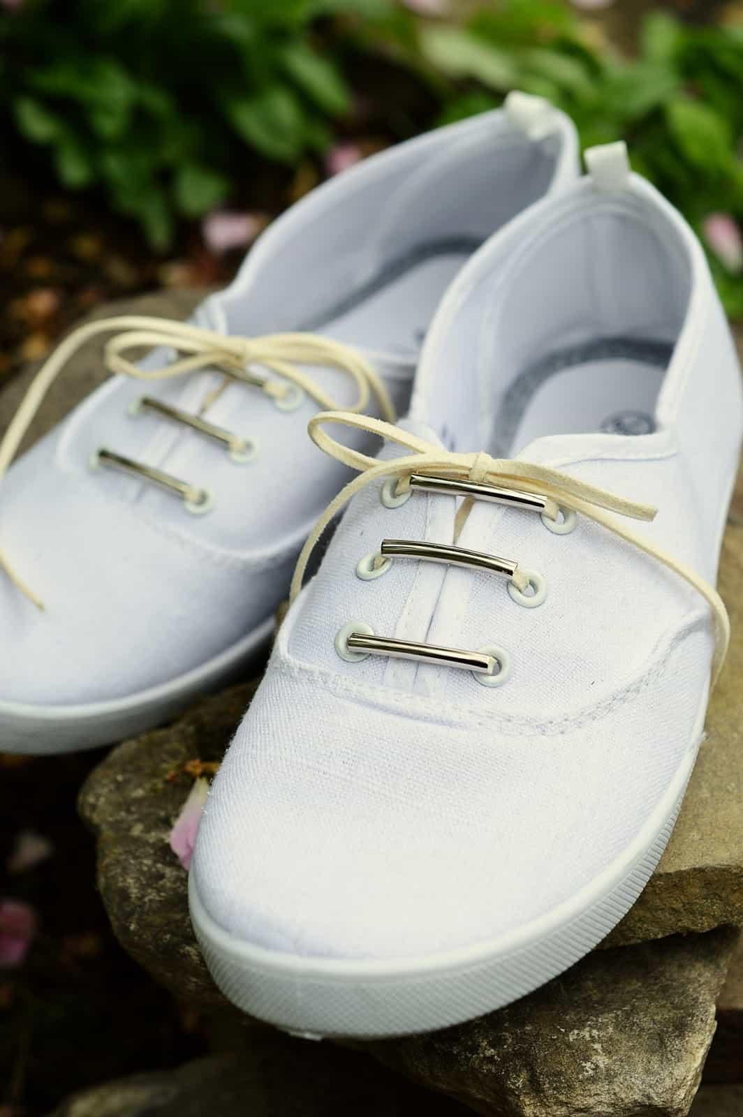 Skinny beaded shoelaces