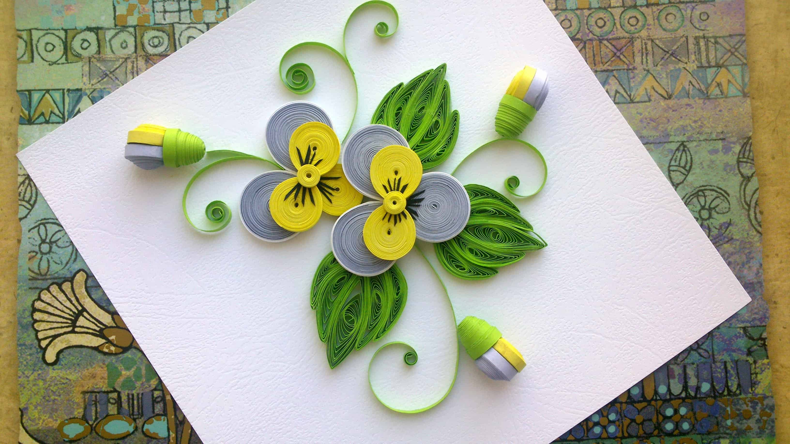 handmade craft ideas paper quilling trendy and brilliant 15 floral paper quilling projects 6686