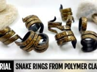 Spiralling snake rings 200x150 A Trending Style Statement: 15 Chic Polymer Clay Ring Designs to Try Out