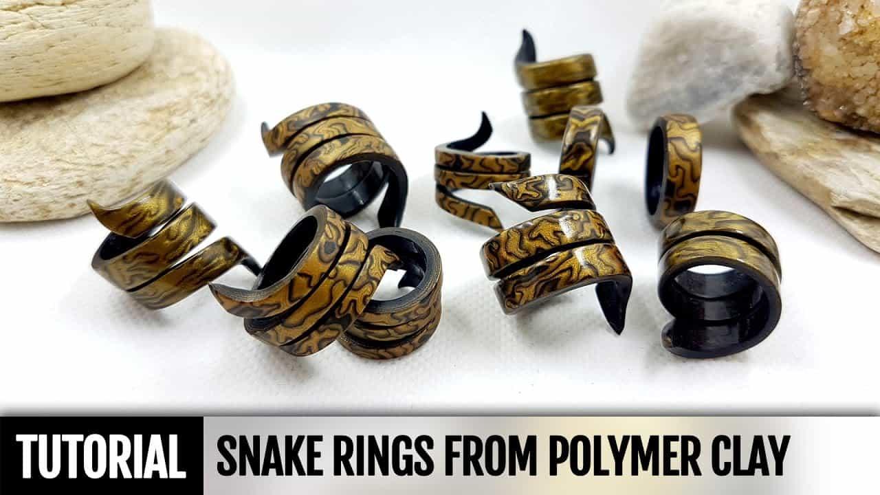 Spiralling snake rings