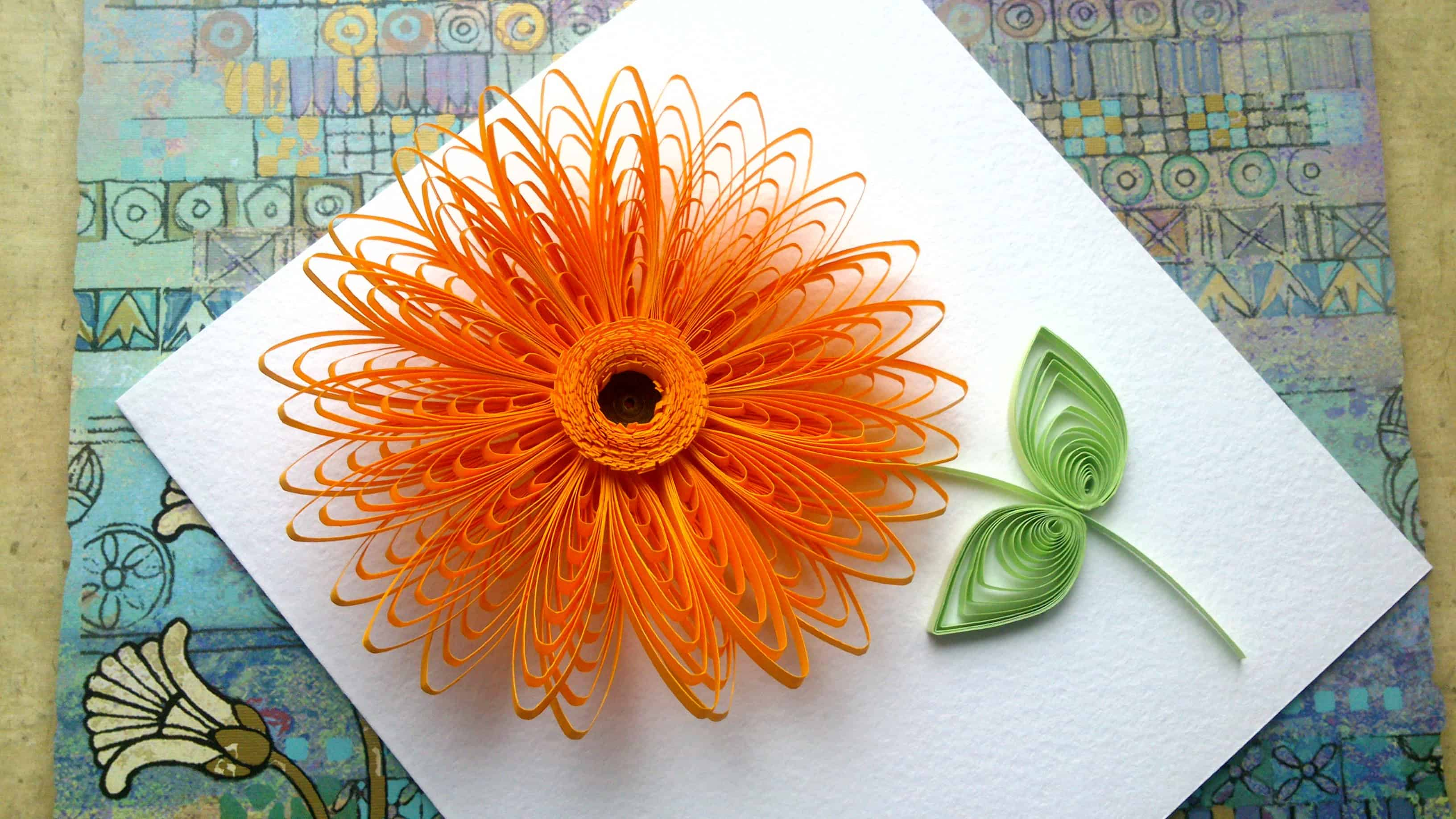 Trendy and brilliant 15 floral paper quilling projects 15 springy petals with a cross cut centre mightylinksfo