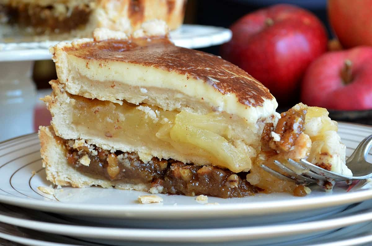 Stacked apple pie