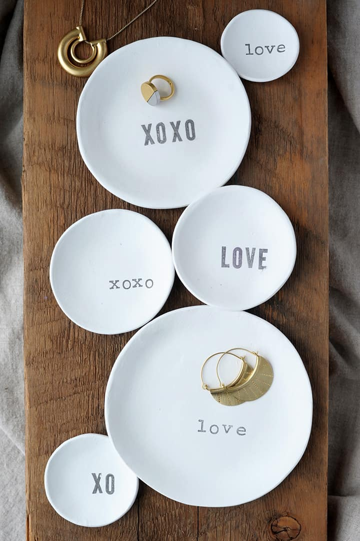 Stamped trinket dishes