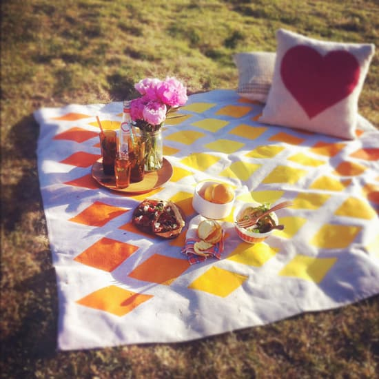 Summer picnic blanket