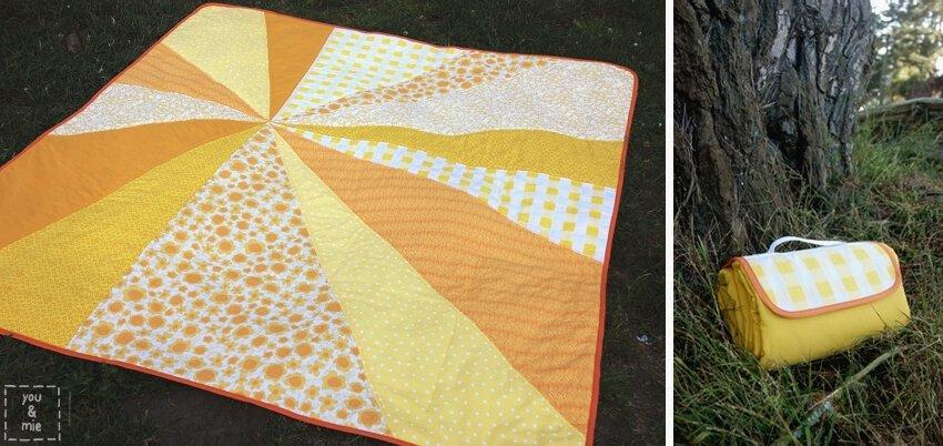 Sunburst picnic blanket