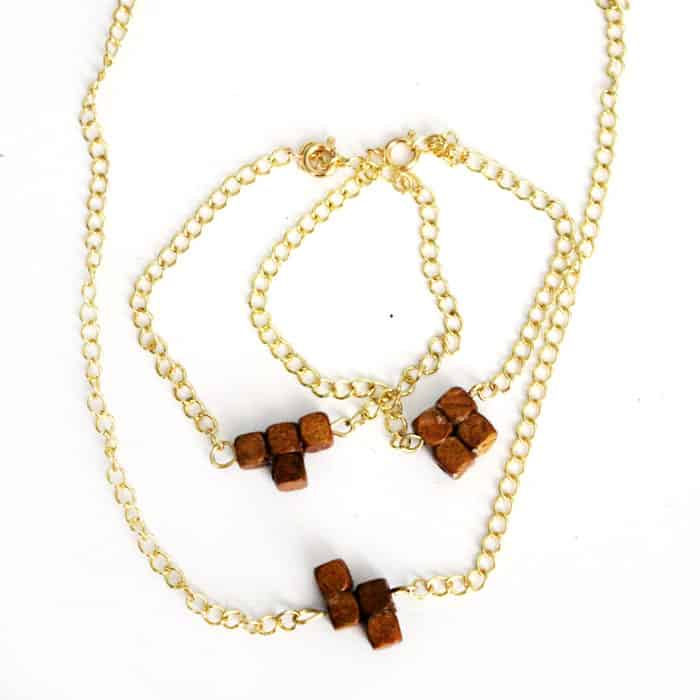 Tetris bead necklaces