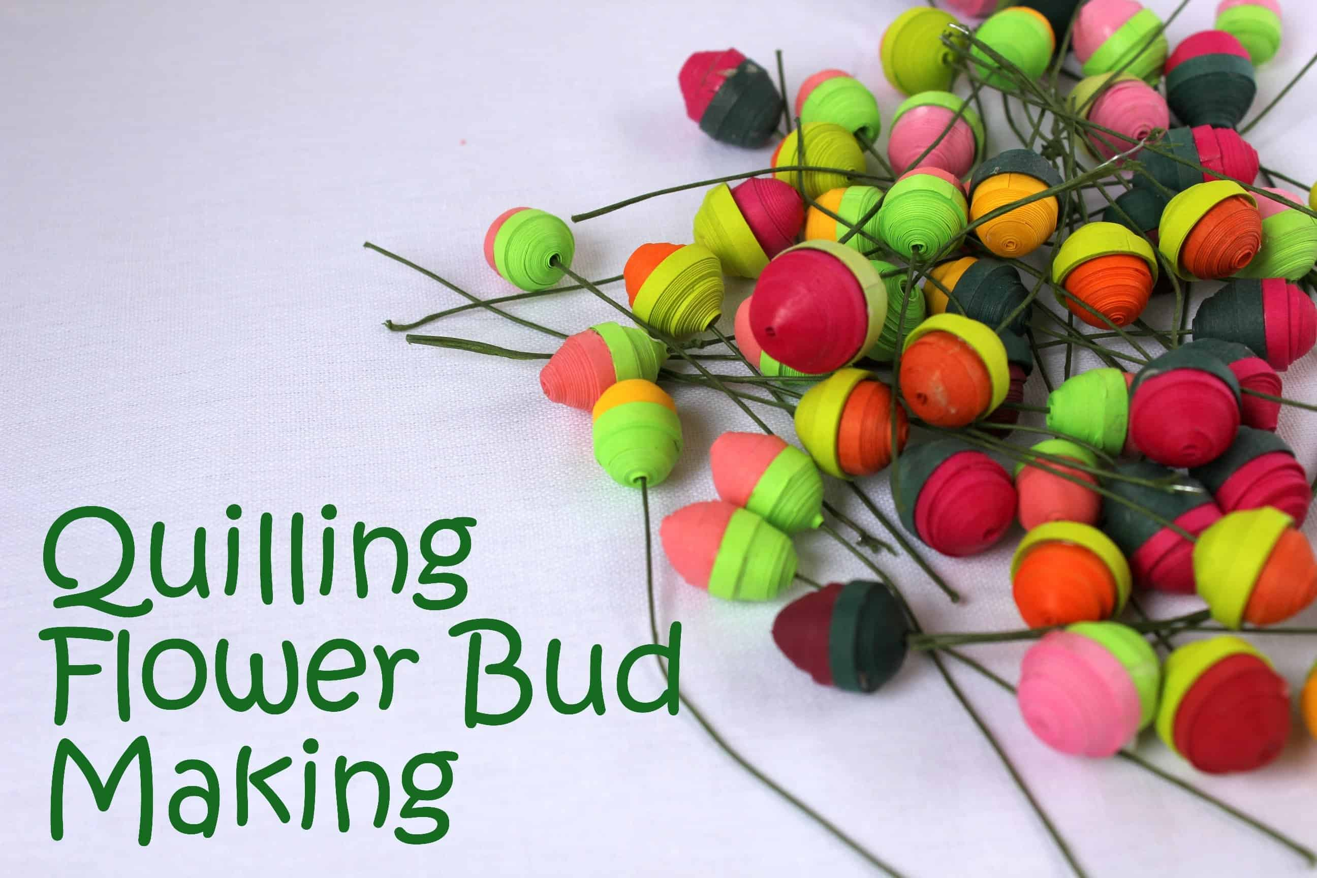 Trendy and brilliant 15 floral paper quilling projects tightly quilled flower buds mightylinksfo