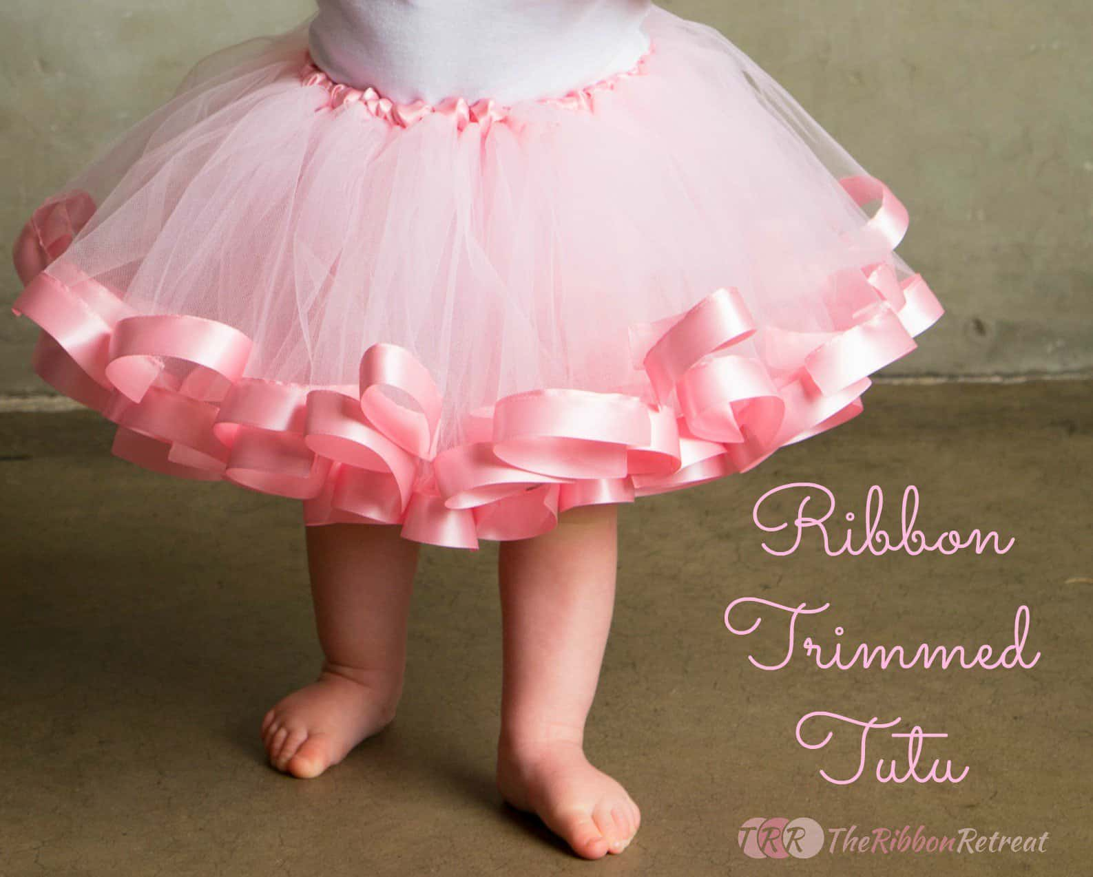 Tiny ribbon trimmed tutu