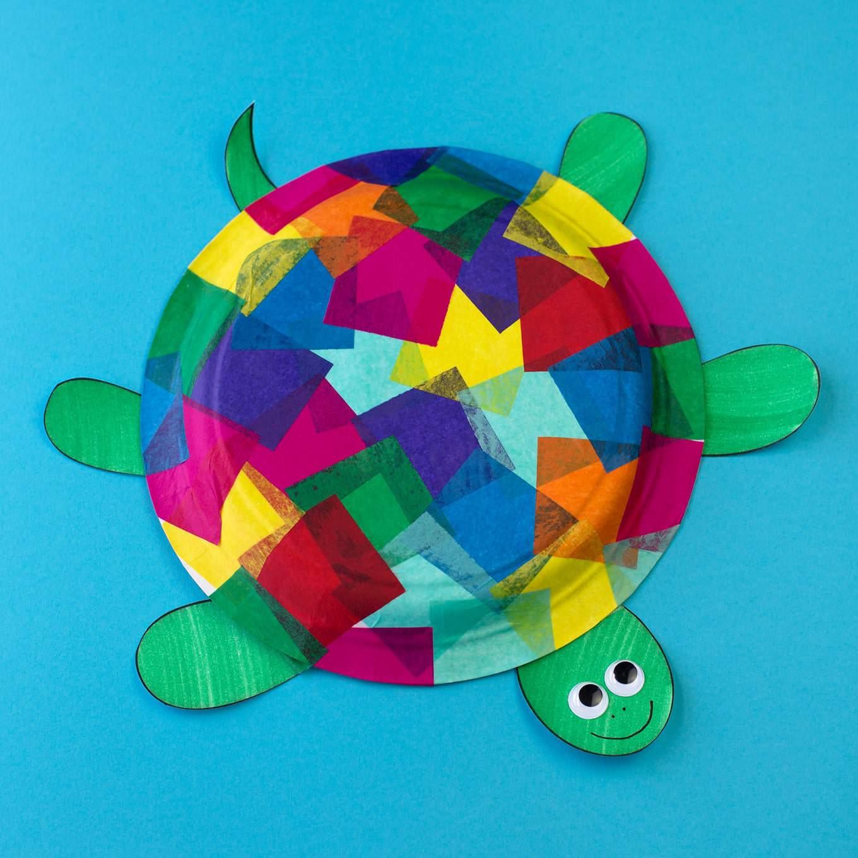 Tissue paper turtle