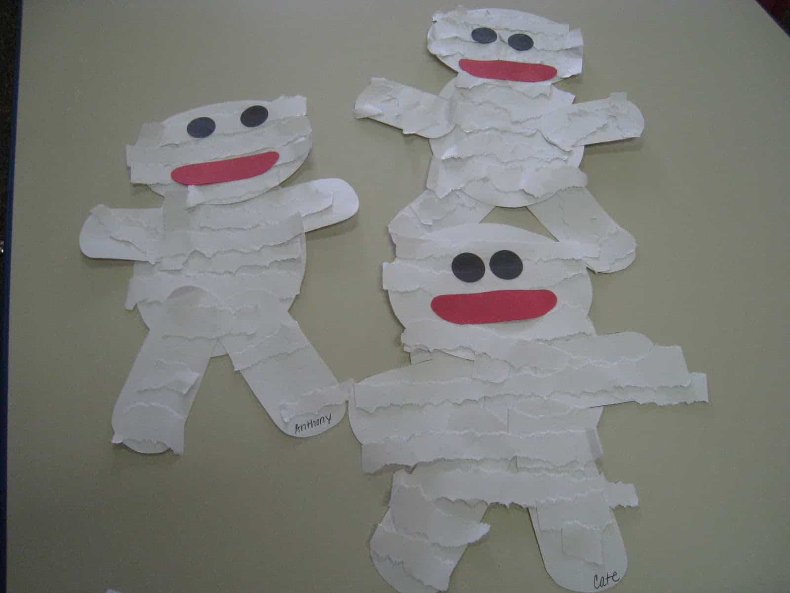 Torn paper mummies