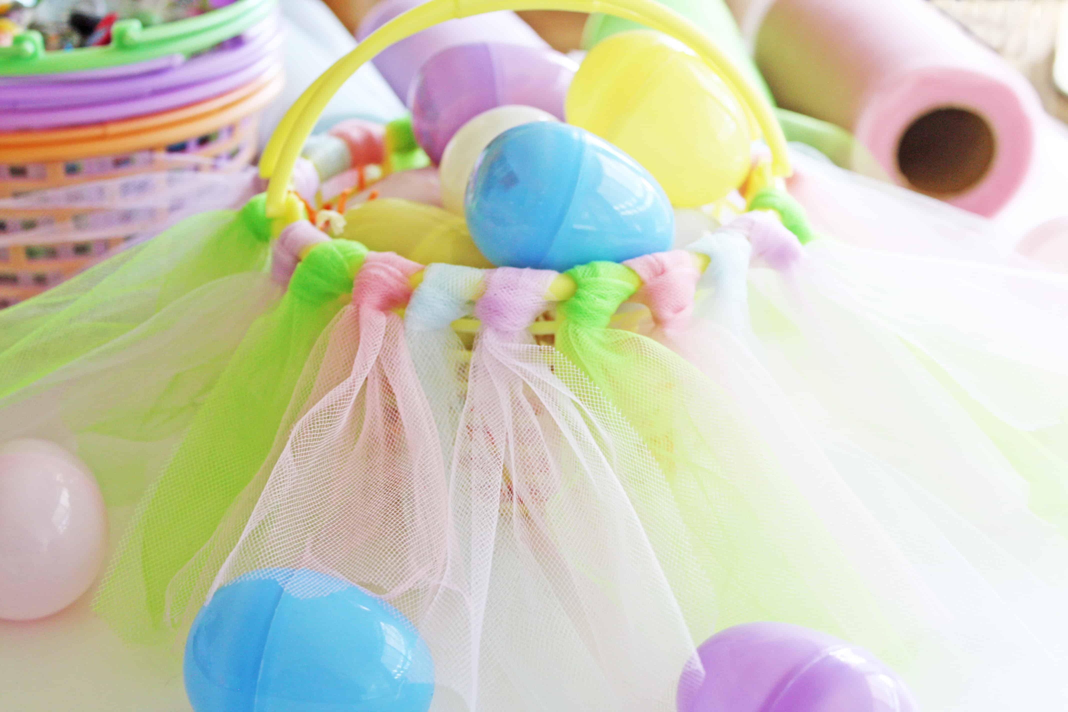 Tutu knotted Easter basket