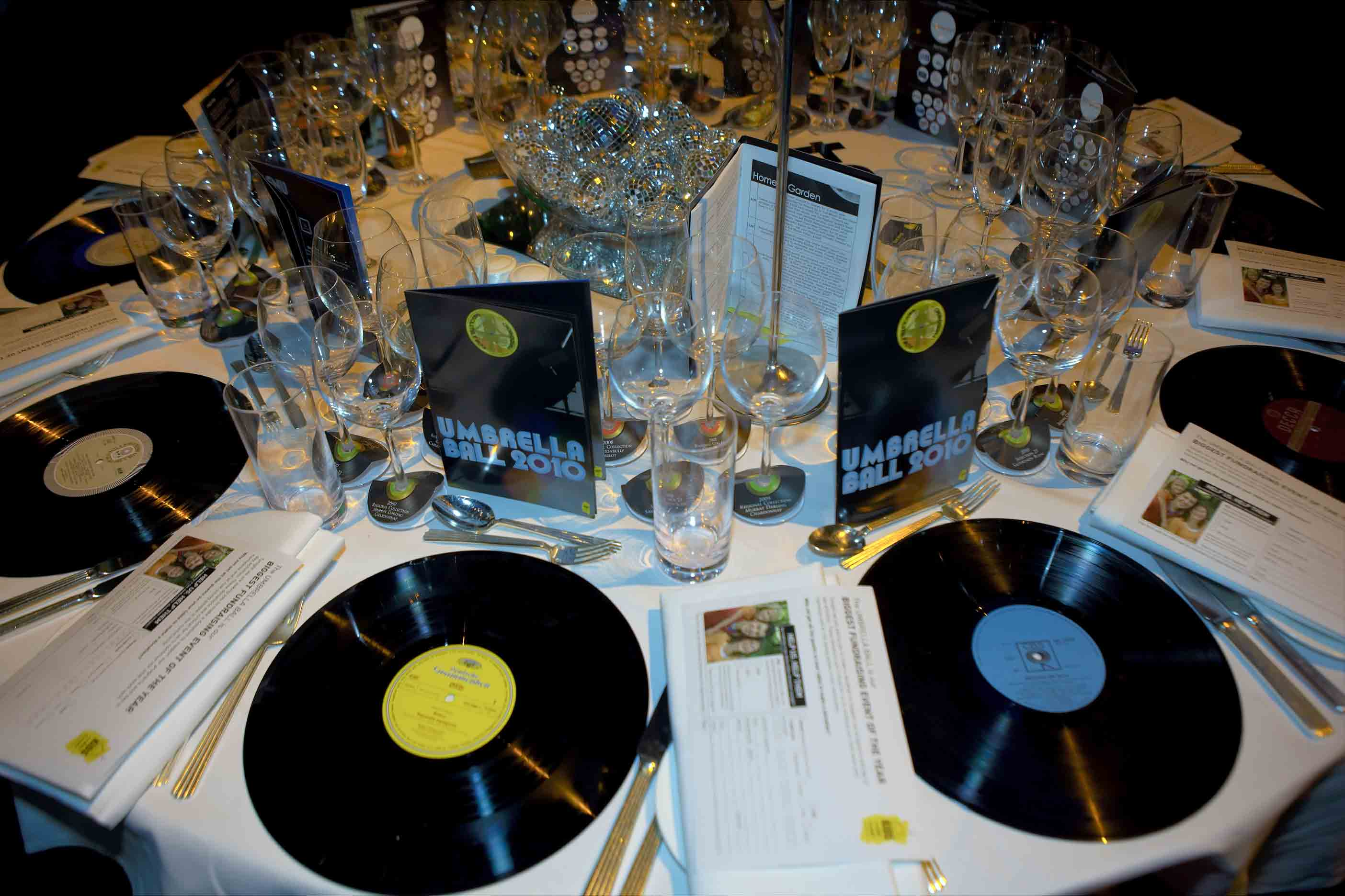 Upcycled record place mats