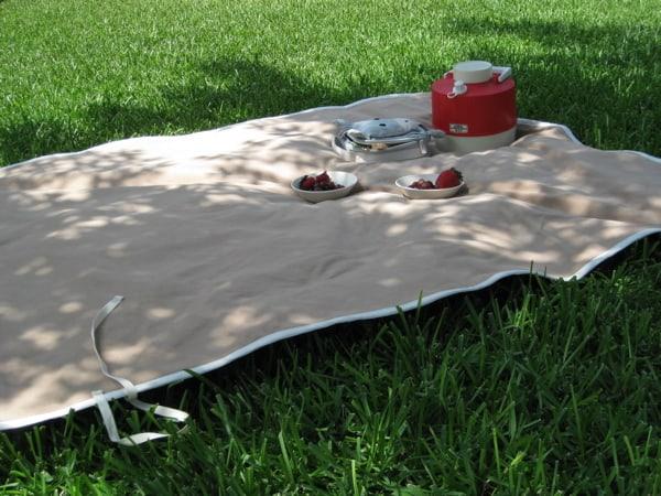Vintage picnic blanket