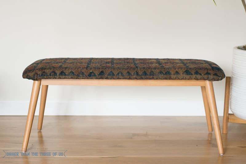 Vintage rug bench