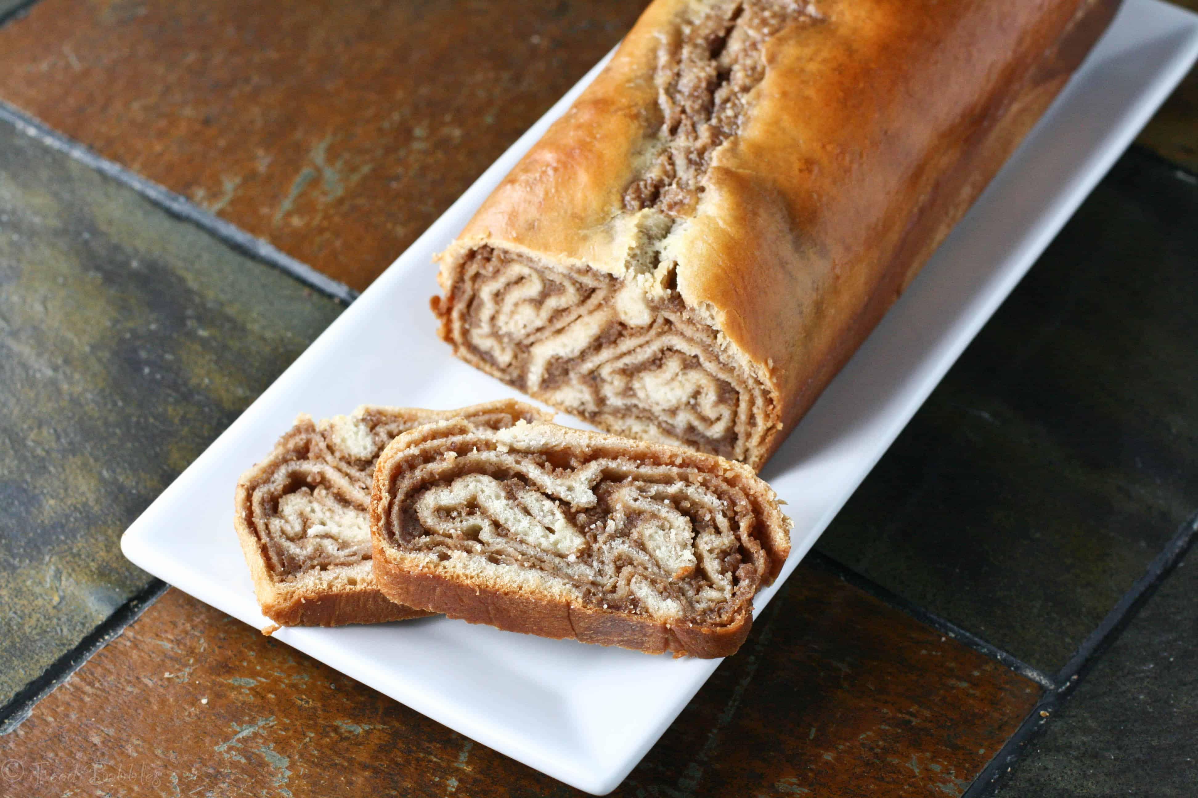 Walnut cinnamon swirl bread