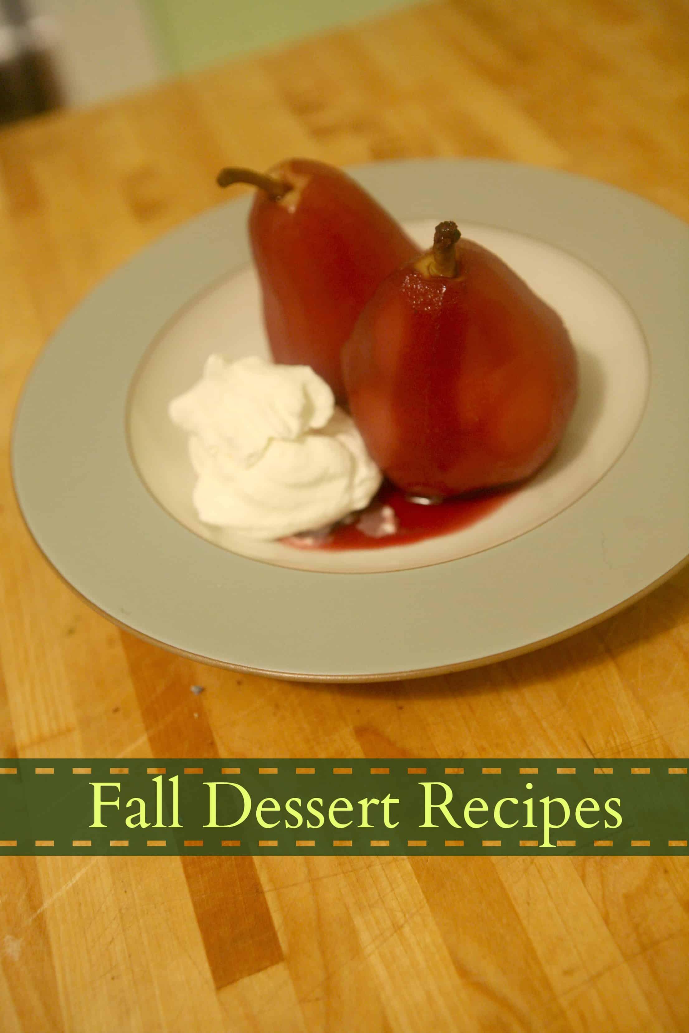 Wine soaked autumn pears