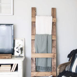DIY Blanket Ladders: A Modern Concept with a Rustic Appeal