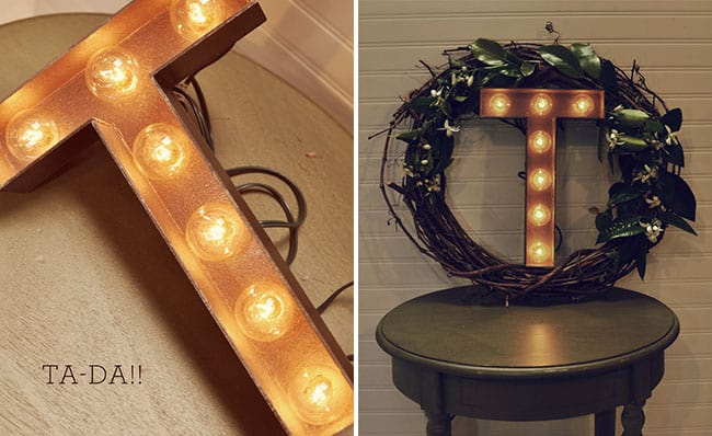 Wreath marquee light