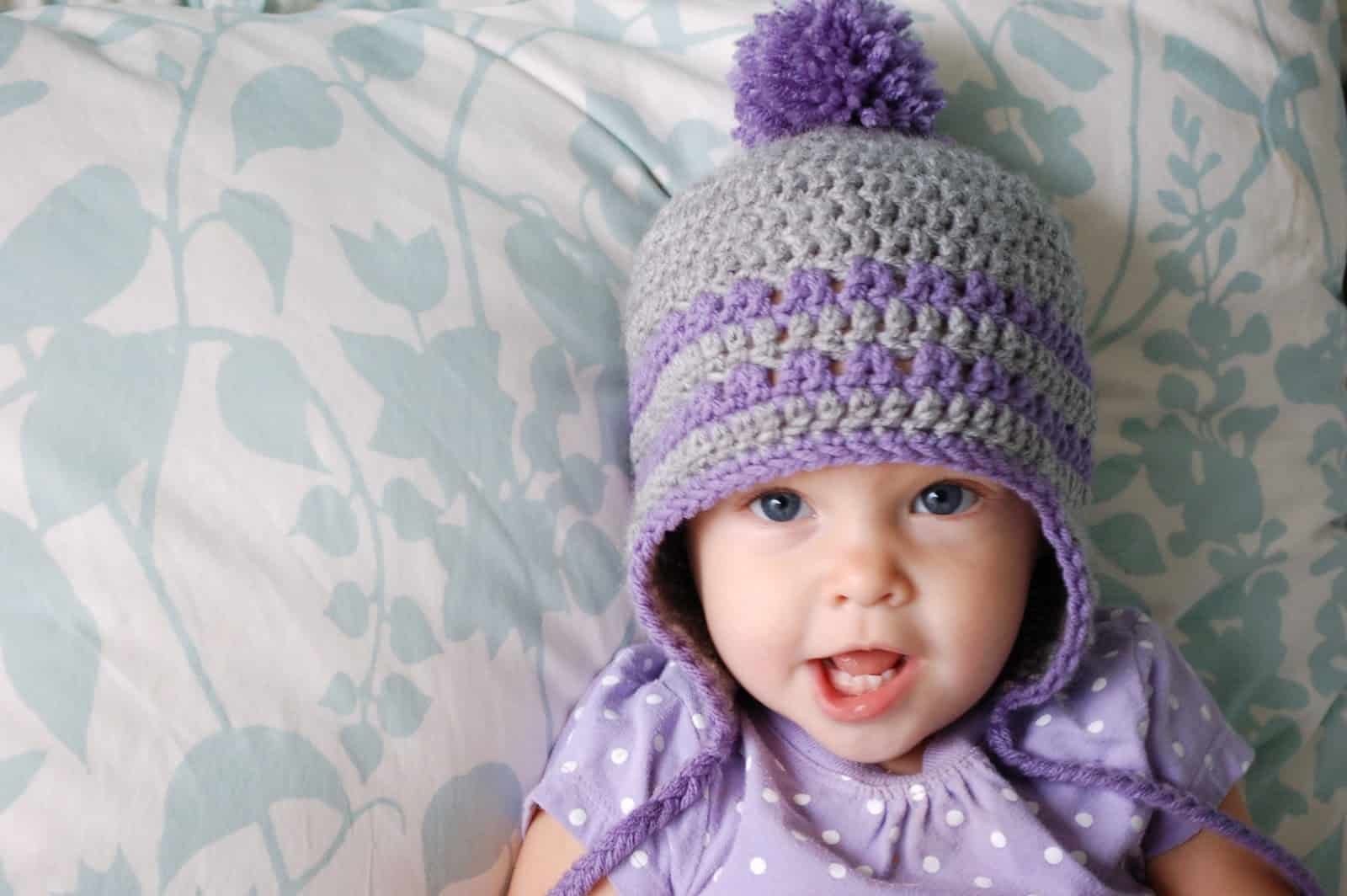 Baby ear flap hat