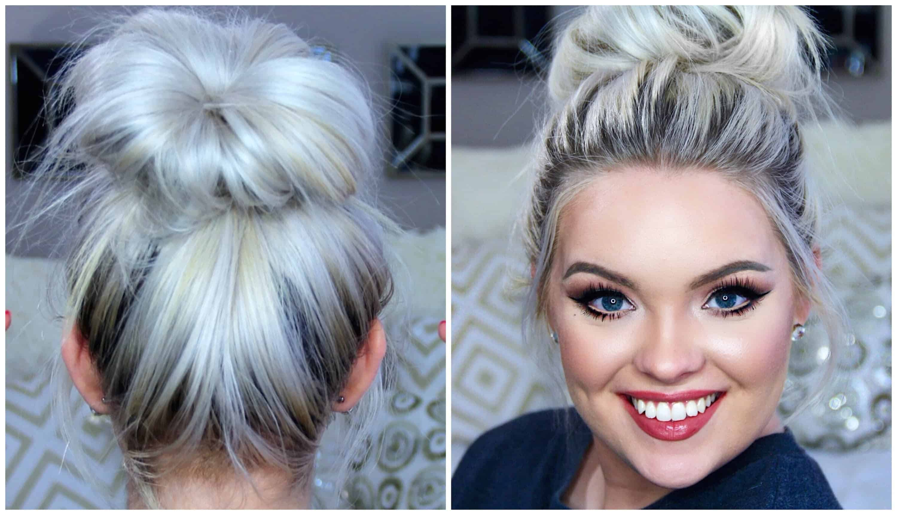 Big messy top knot