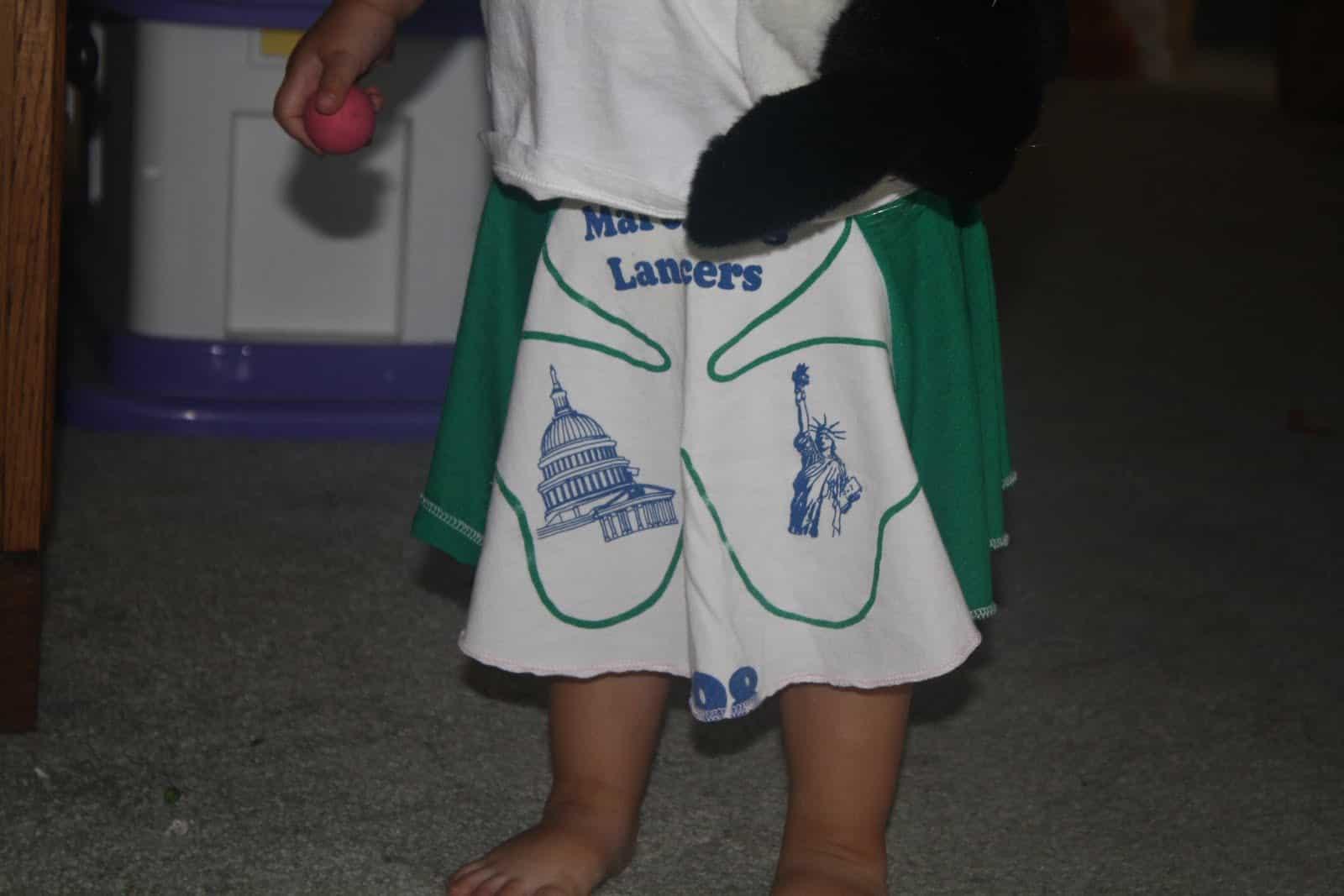 Boy's logo shorts from a tshirt