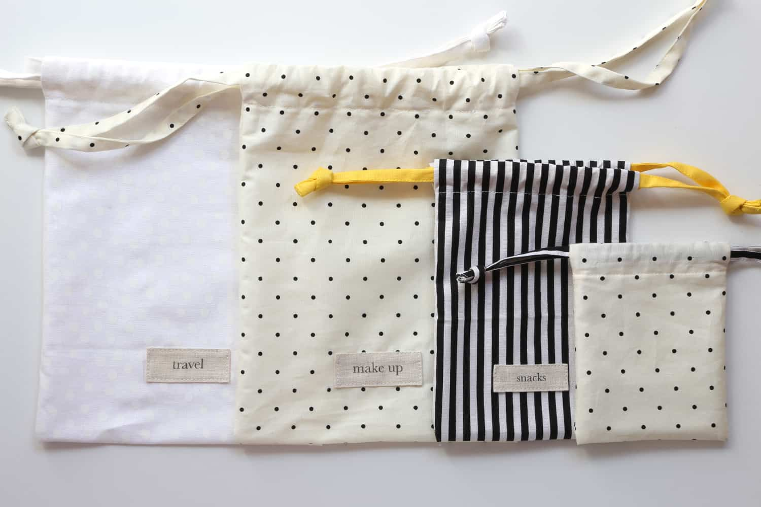 Chic drawstring pouches