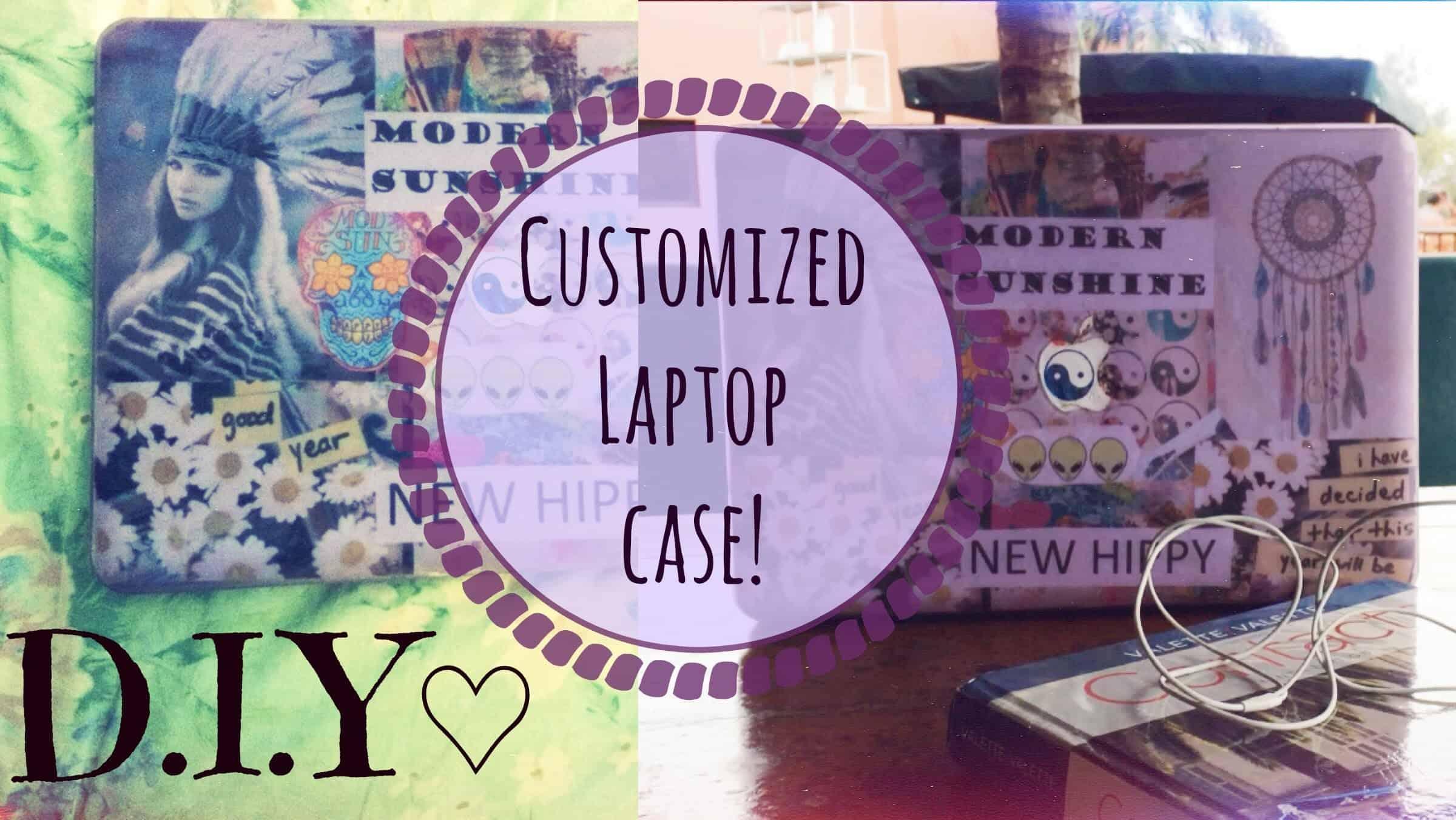 Customized magazine collage laptop skin