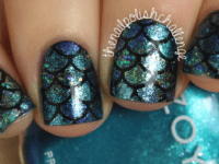 Dark mermaid nails 200x150 DIY Mermaid Nails: An Enchanting Fairytale Manicure