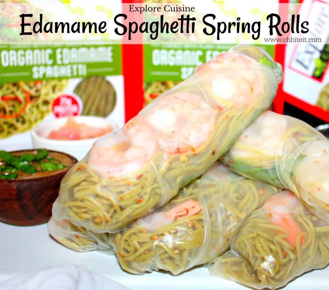Edamame spaghetti spring rolls