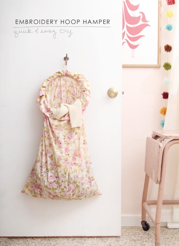 Embroidery hoop laundry bag