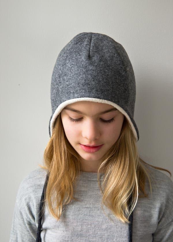 Extra warm ear flap hat