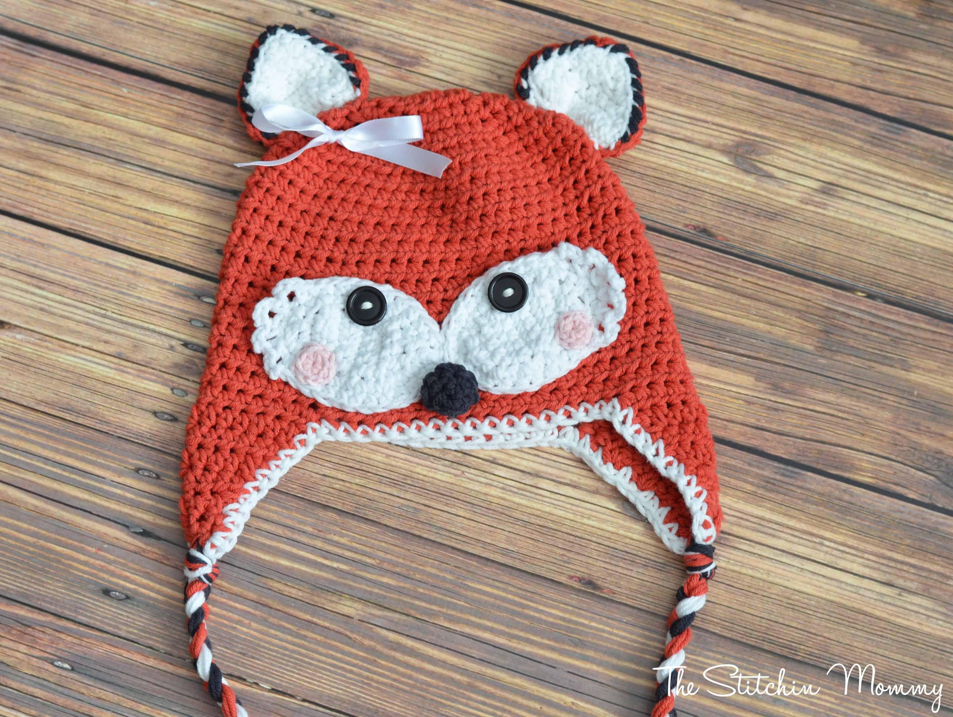 Fox ear flap hat