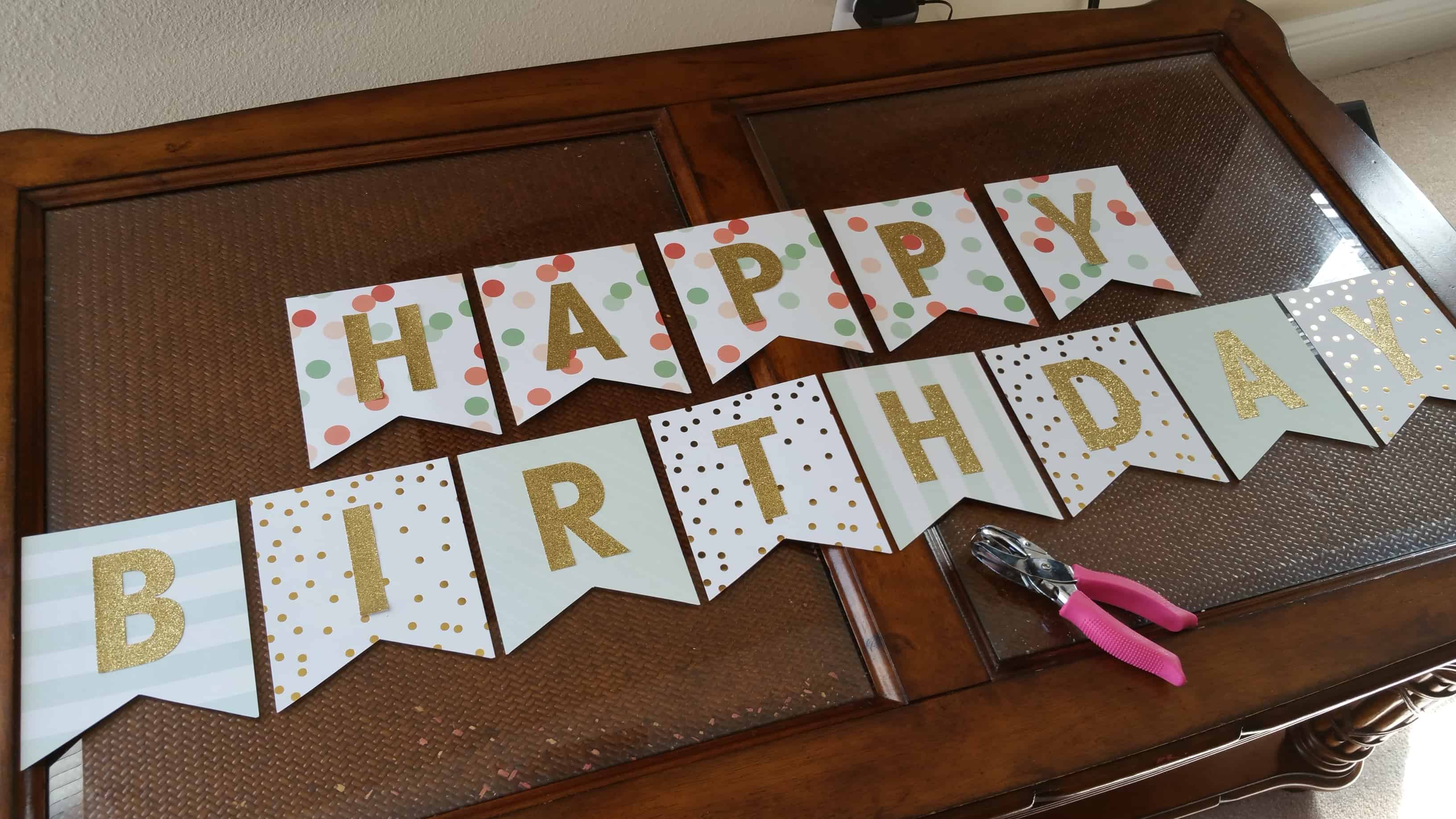 Make Bunting With Letters