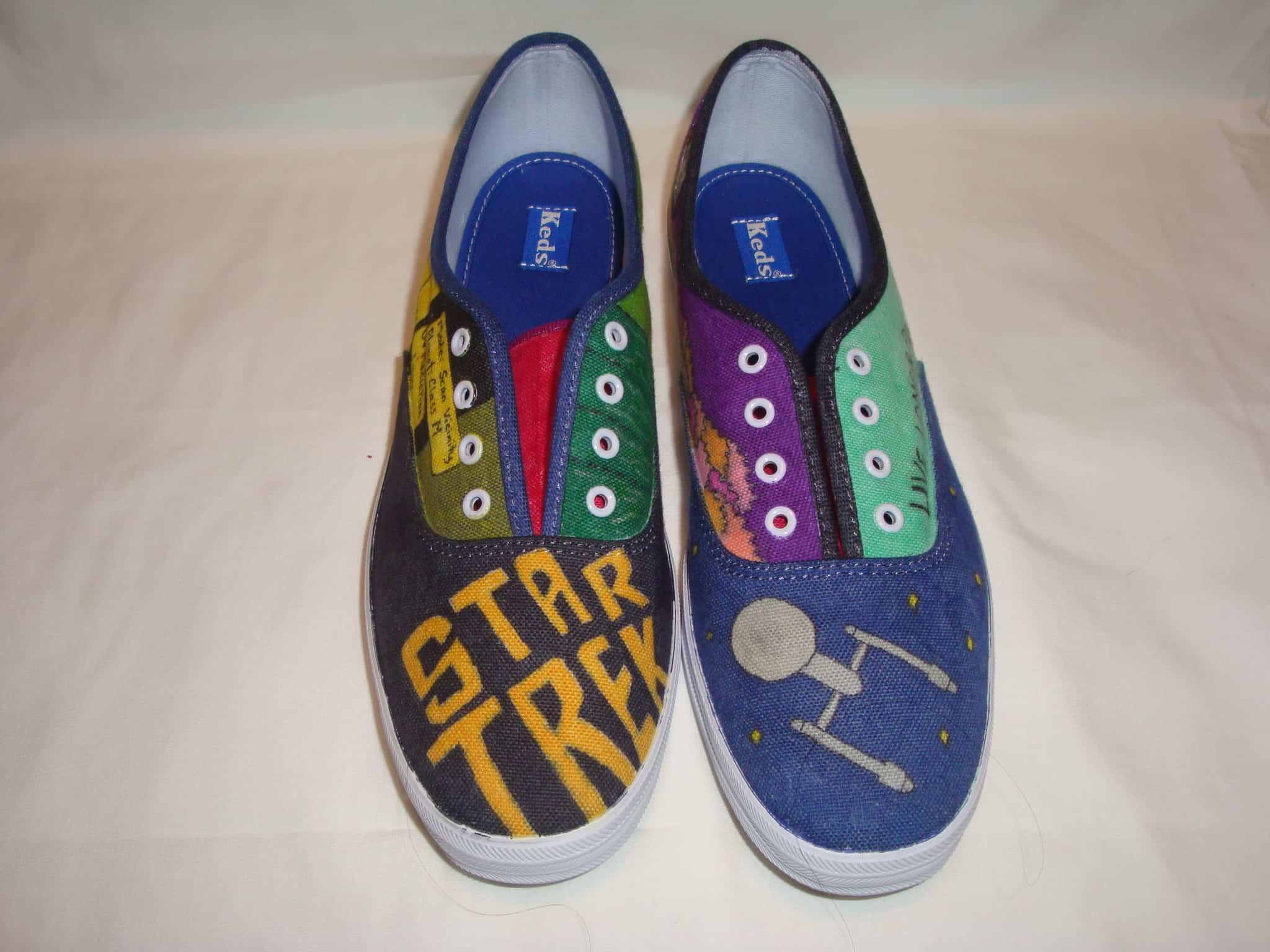 Hand drawn Star Trek shoes