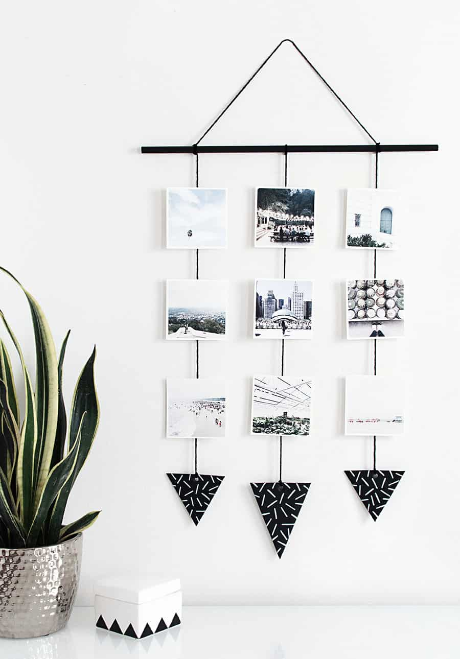 Hanging photo display