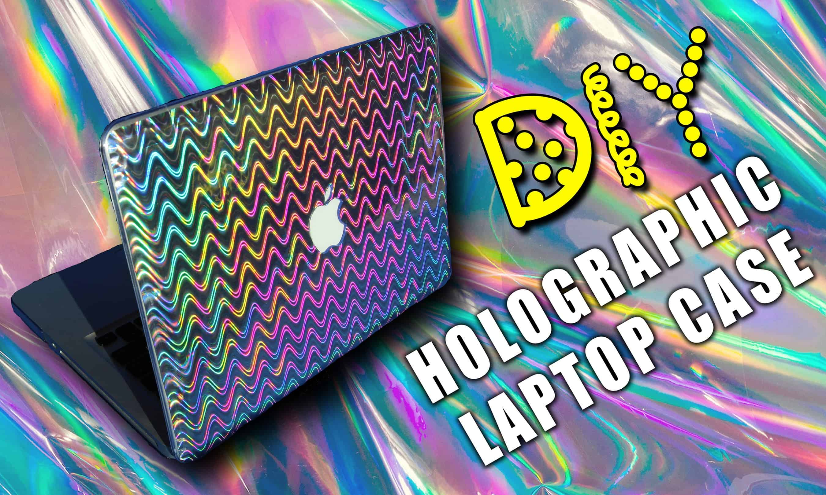 Holographic adhesive vinyl laptop case