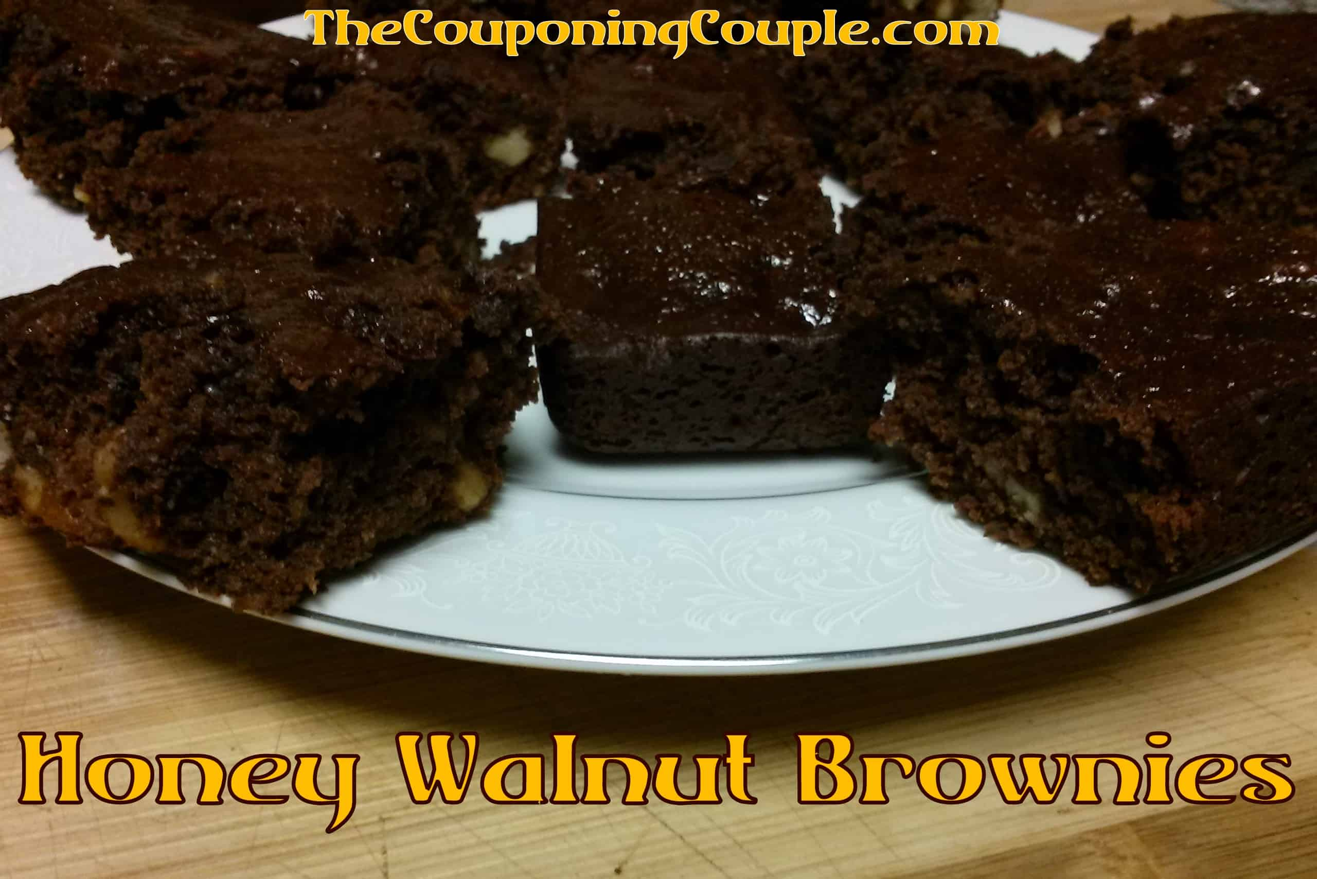 Honey walnut brownies