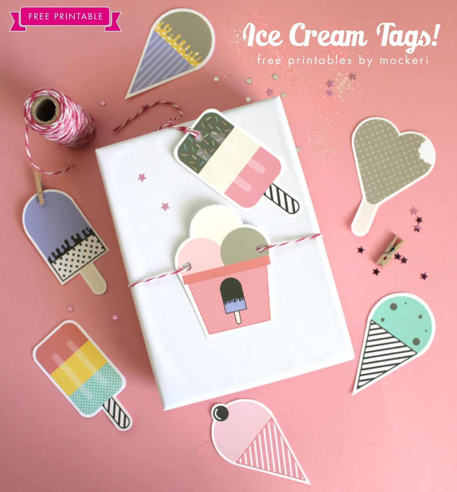 Ice cream gift tags