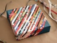 Magazine strip gift wrap box 200x150 Cut, Paste and Innovate: Magazine Collage Ideas