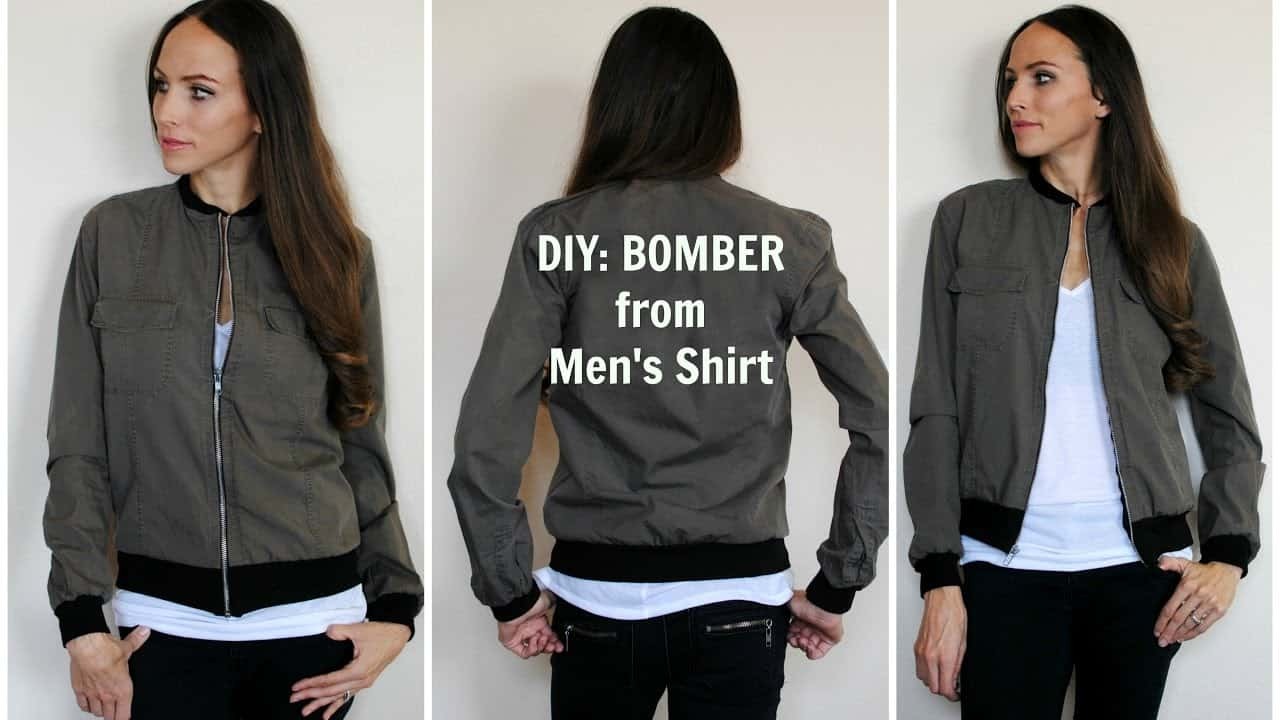 Men's shirt bomber jacket