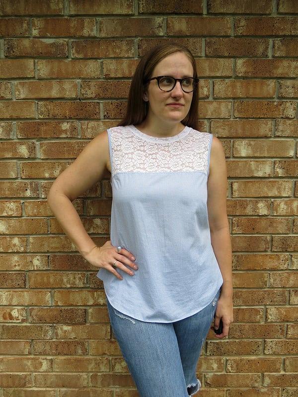 Men's shirt lace top