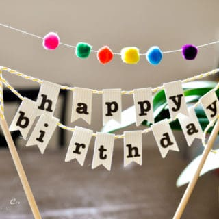 Say it Out Loud: Adorable Homemade Birthday Banners