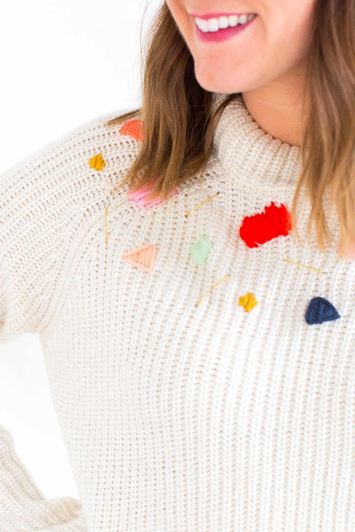 Modern embroidered sweater