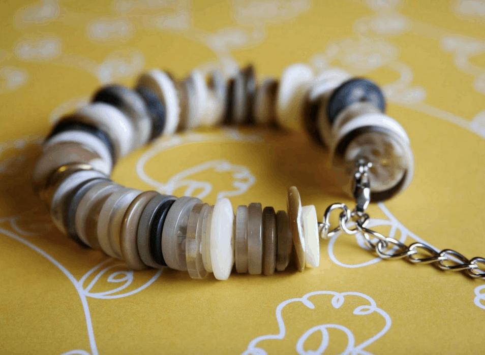 Neutral button bracelet