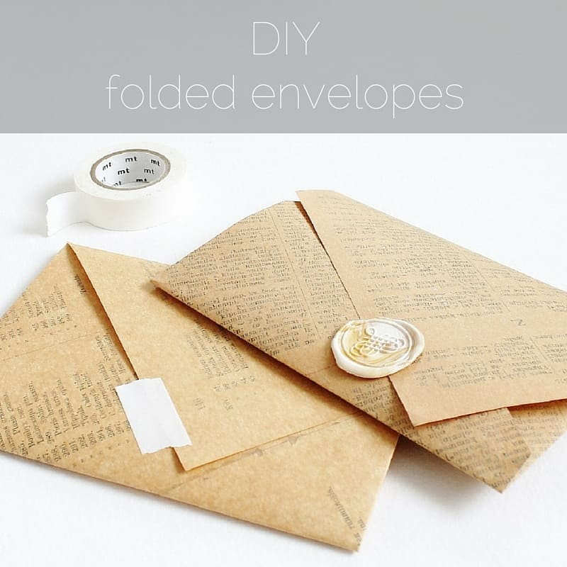 Old book envelopes